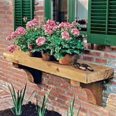 Here's a clever twist on the classic window box: a wood shelf that displays plants right in their pots outside your window. We show you how to get it done. | TVan Chaplin Photo: | thisoldhouse.com