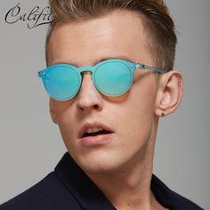 CALIFIT Round Sunglasses Men brand designer Sunglass Male Retro Sun Glasses For Women UV400 Shades Female outdoor Oculos Lunette