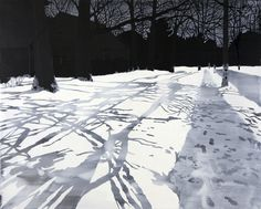 Leigh Tarentino : PORTFOLIO : 2011-present: Memory of Snow paintings and drawings