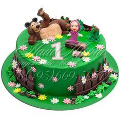 Masha i medved - en tårta som skulle uppskattas! Masha Et Mishka, Masha And The Bear, Bear Party, Bear Cakes, Cake Art, Delicious Desserts, Cake Decorating, Russian Style, Birthday Cakes
