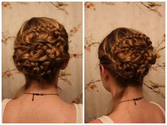 http://www.youtube.com/watch?v=HLBMqMuO8To  Textured Braided Updo, Inspired by Emma Watson's Hair at the Premiere of Bling Ring.