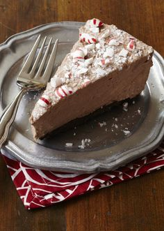 Chocolate Peppermint Mousse Pie