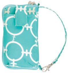 Find the Tech Wallet - Aqua Chain on page 19 & 21 of the Spring & Summer 2014 StyleBook! #iiSS14, www.myinitials-inc.com/kathymcintosh