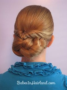 Easy Rolled Braid Updo. Much simpler than it looks!