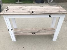 DIY Farmhouse Console Table - Brooklyn Allgood
