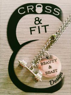 Barbell Necklace & Motivación.Fitness Workout,Bodybuilding,Gym,Kettlebell,Custom…