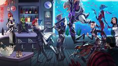 """This is wonderful and all that, but for a moment I thought Tali was holding Grunt over her head, ready to hurl him at Shepard, and was like """". Mass Effect Ships, Mass Effect Funny, Mass Effect Garrus, Mass Effect Art, Thane Krios, Mass Effect Universe, Commander Shepard, Dragon Age, Game Art"""