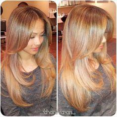 Gorgeous honey blonde hair