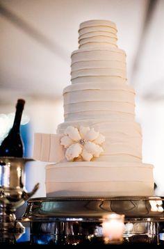 Elegant Pink Wedding Cake Photo
