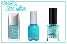 Turquoise nails are one of the many surefire signs that summer is officially here!!