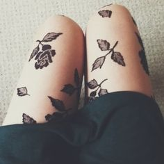 floral printed tights