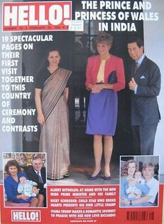 1992 edition Hello! magazine. Front cover: Princess Diana and Prince Charles India..