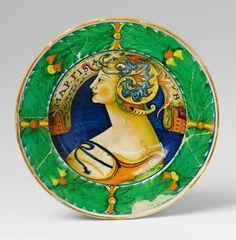 Siena or Urbino, ca. 1520 - 30.An important Renaissance maiolica platter, Auction 1075 Lot 915