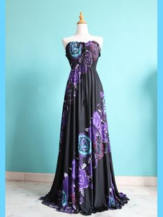 Black Strapless/ Halter Women Dress Evening Dress Sundress Long Maxi Dress Bridesmaid Dress XS S M L XL. $45.00, via Etsy.