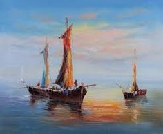 Image result for small boat oil painting