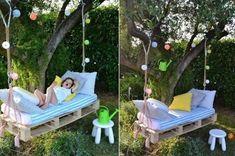 Une belle balancelle DIY pour le jardin