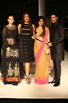 The gorgeous #Kajol along with sister #Tanisha attended #ManishMalhotra's show at #Lakme Fashion Week W/F 13.