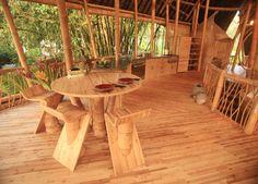 หมู่บ้านสีเขียวในบาหลี บ้านที่เป็นมิตรกับสิ่งแวดล้อมที่ทำจากไม้ไผ่   FreeSPlanS.coM  