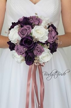 Purple Wedding Flowers Wisteria and Plum wedding bouquet Plum Wedding Flowers, Wedding Flower Guide, Flower Bouquet Wedding, Floral Wedding, Plum Wedding Colors, Flower Bouquets, Purple Wedding Themes, Blue Wedding, Wildflowers Wedding