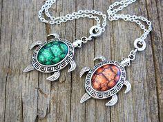 Turtle Turtle Necklace Tortoise Tortoise by SunAndStarsJewelry