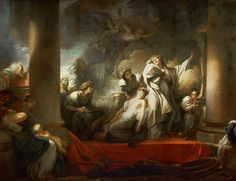 Jean-Honore Fragonard - Coresus Sacrificing Himself to Save Callirhoe