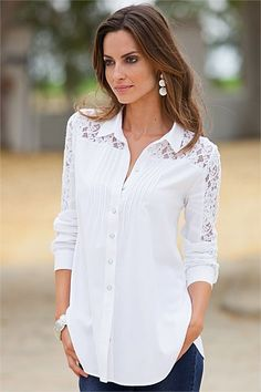 Women's Clothing Online - Together Lace Detail Shirt