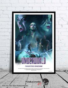 UNDERWORLD - alternative movie poster / print [ horror vampire ] Kate Beckinsale Scott Speedman Shane Brolly Michael Sheen Sophia Myles