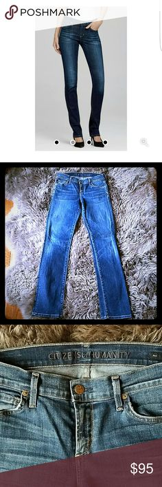 """Citizens of Humanity """"Ava"""" jeans These are Citizens of Humanity Ava straight leg jeans from Anthropologie. Not worn much. Fabulous condition. Size 27.  - Classic Straight  - 99% Cotton 1% Spandex  - Fit true size  - Rise: 8 1/4  - Inseam: 34""""  - Leg Opening: 14"""" Citizens of Humanity Jeans Straight Leg"""