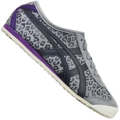 ASICS ONITSUKA TIGER MEXICO 66 LEOPARD WOMEN'S SNEAKERS D46RJ-1316 SHOES GREY #ASICS #Trainers