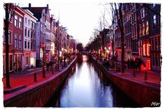 The Red Light District in Amsterdam. Where we STAYED whilst there...not recommended