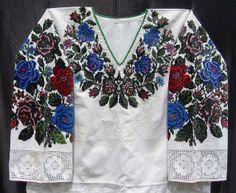 Bukovynian beaded 'sorochka'. ABCs of Creativity - S is Seed Beads