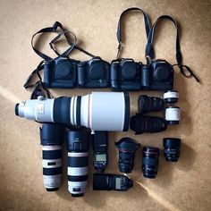 @BrunoFahy shared his camera bag with us in our Facebook group! Click the link in our bio to join! Canon EOS 1 DX , 1 D MarkIV , 1D MarkIIn , EOS 5D Mark 3. Lenses : 8-15 L , 16-35 F4L , 24-105 F4L , 50 F1,4 , 70-200 2,8L , 100-400 F4,5 5,6 II L , 135 F2 L , 85 F 1,8 (not pictured) , Ext 1,4x and 2x . 2 Flash units ・・・ #canon #canoneos #canoneos1dx #canon5dmarkiii