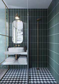 10 idées pour une salle de bain stylée | Madame Décore Bathroom Design Small, Bathroom Layout, Bathroom Interior Design, Serene Bathroom, Minimal Bathroom, Bathroom Designs, Bath Hotels, Modern Hotel Room, Metro Tiles