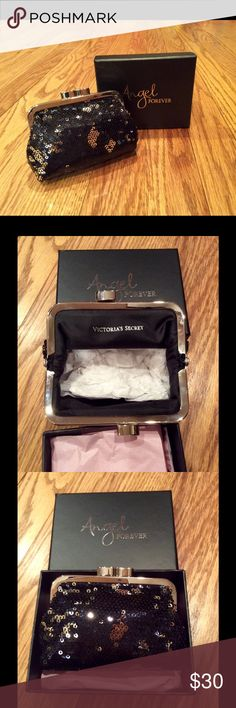 NIB Victoria's Secret Sequined Coin Purse Comes in black gift box with light pink tissue paper and stuffing materials inside the coin purse. Comes from smoke & pet free home. No trades. Please submit offers using offer button or bundle for more savings! Victoria's Secret Bags Mini Bags