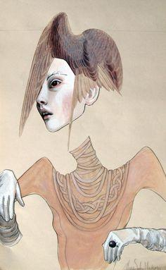 Anne Sofie Madsen –more (missing pieces) images @ http://www.juxtapoz.com/Illustration/anne-sofie-madsen –Anne Sofie Madsen, Paris, Illustration, Denmark