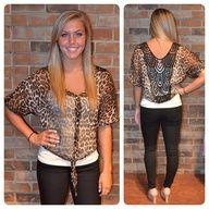 cheetah shirt!