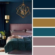 The Low Down on Bedroom Color Schemes Master Colour Palettes Revealed - zaradesignhomedec. Bedroom Ideas: 46 The Low Down on Bedroom Color Schemes Master C.Bedroom Ideas: 46 The Low Down on Bedroom Color Schemes Master C. Bedroom Color Schemes, Bedroom Paint Colors, Interior Colour Schemes, Paint Colours, Paint Schemes, Trendy Bedroom, Modern Bedroom, Bedroom Romantic, Contemporary Bedroom