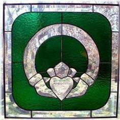 Claddagh stained glass