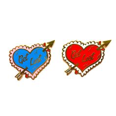 Brooch measures 1.3 tall  High quality gold and hard enamel lapel pin You choose red or blue  You also choose the normal packaging on the square