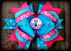 Medium Minnie Mouse inspired  boutique hair bow