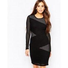BCBGMAXAZRIA Tanya Lace Fitted Dress in Black