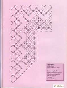 Pañuelo bautizo Bobbin Lace Patterns, Lacemaking, Parchment Craft, Crochet Trim, Hobbies And Crafts, Yarn Crafts, Tatting, Needlework, Album