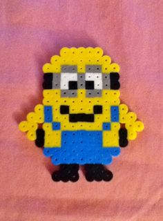 Hands on Hips Perler Bead Despicable Minion by RainbowMoonShop