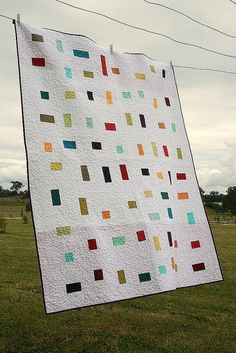 confetti quilt - deceptively simple