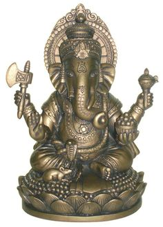 Bronze Seated Ganesh - Ganesh, also called Ganapati, the elephant: The Artifact