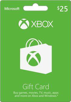 Microsoft - $25 Xbox Gift Card