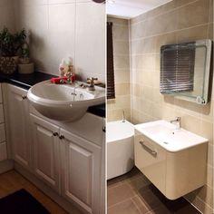 Tiling, Corner Bathtub, Sink, Boutique, Mirror, Interior Design, Bathroom, Modern, Instagram