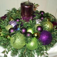 Lime green and purple Christmas trees for hire. Our lime green and ...
