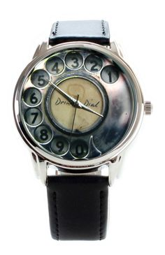 Nostalgic Phone Watch - Wristwatch Antique Old Phone: Love this...although I might get confused with the numbers