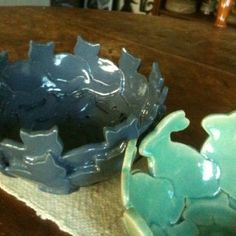 Julie Otto animal cookie cutter bowls to love